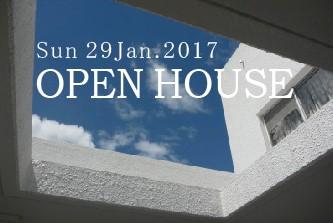 1/29  (sun)  オープンハウスのお知らせ