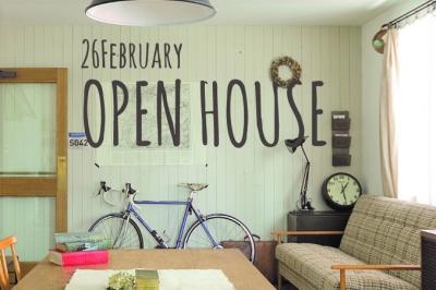 2/26 (sun)  オープンハウスのお知らせ