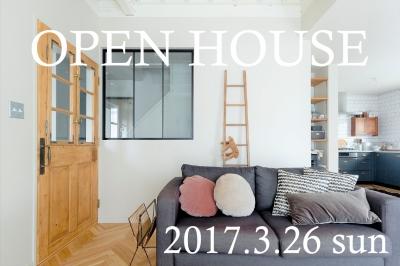 3/26 (sun)  オープンハウスのお知らせ