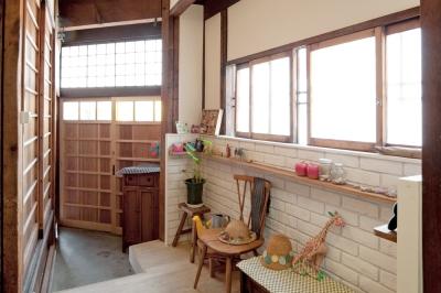 京都の町屋で楽しむアンティーク空間