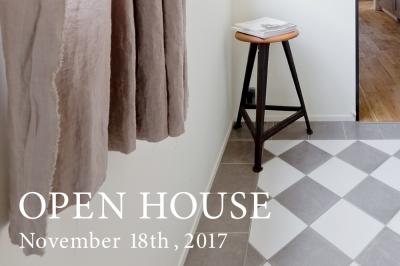 11/18 (sat)  オープンハウスのお知らせ