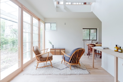 日本家屋の古さを活かした開放的な住まい