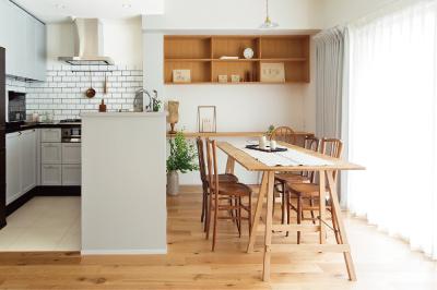 大きなU型キッチンが素敵な多収納な住まい